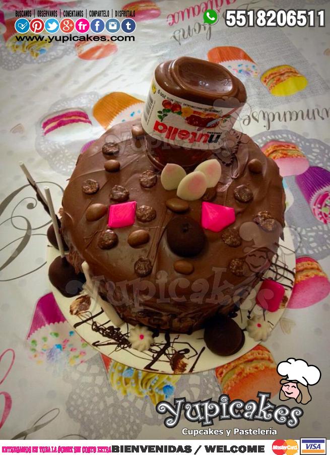 ✨☺ ¿Amante de la Nutella? Llena de alegría esas fechas especiales con nuestros pasteles creados especialmente para ti! 😍 ¡haz tus pedidos HOY y disfruta en familia su sabor! 😉 Envía WhatsApp al ☎ 5518206511 #Yupicakes #CDMX #Pastel #Nutella #Familia
