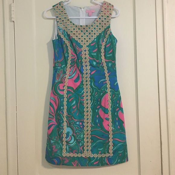 NWT Lily Pulitzer Macfarlane Shift Dress Size 0 Never worn; brand new with tag. Lilly Pulitzer Dresses Mini