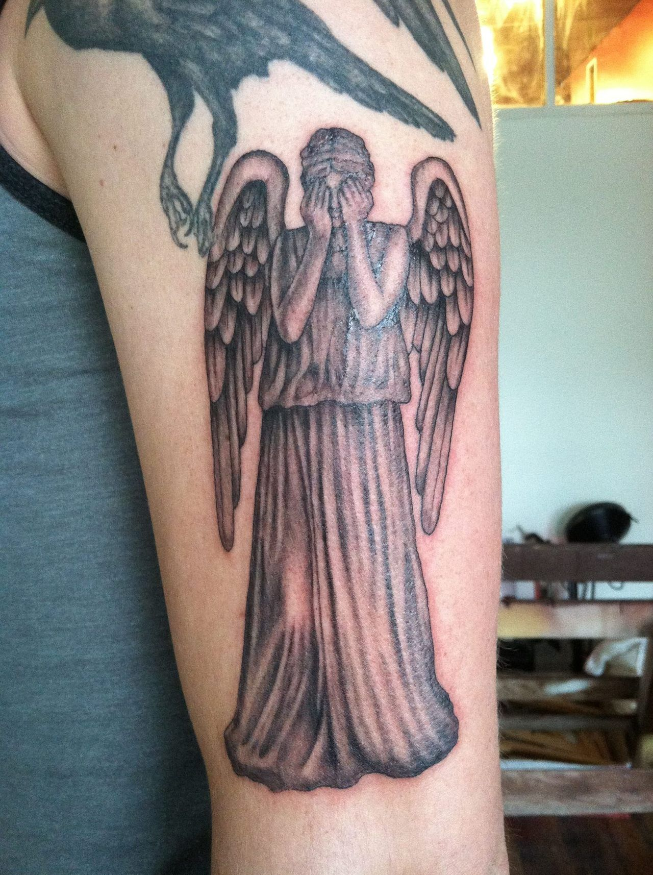 Small Doctor Who Tattoo: Images For > Weeping Angel Doctor Who Tattoo
