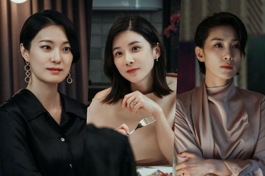 """Lee Bo Young Faces Off With Ok Ja Yeon As Kim Seo Hyung Grows Pensive In """"Mine"""""""