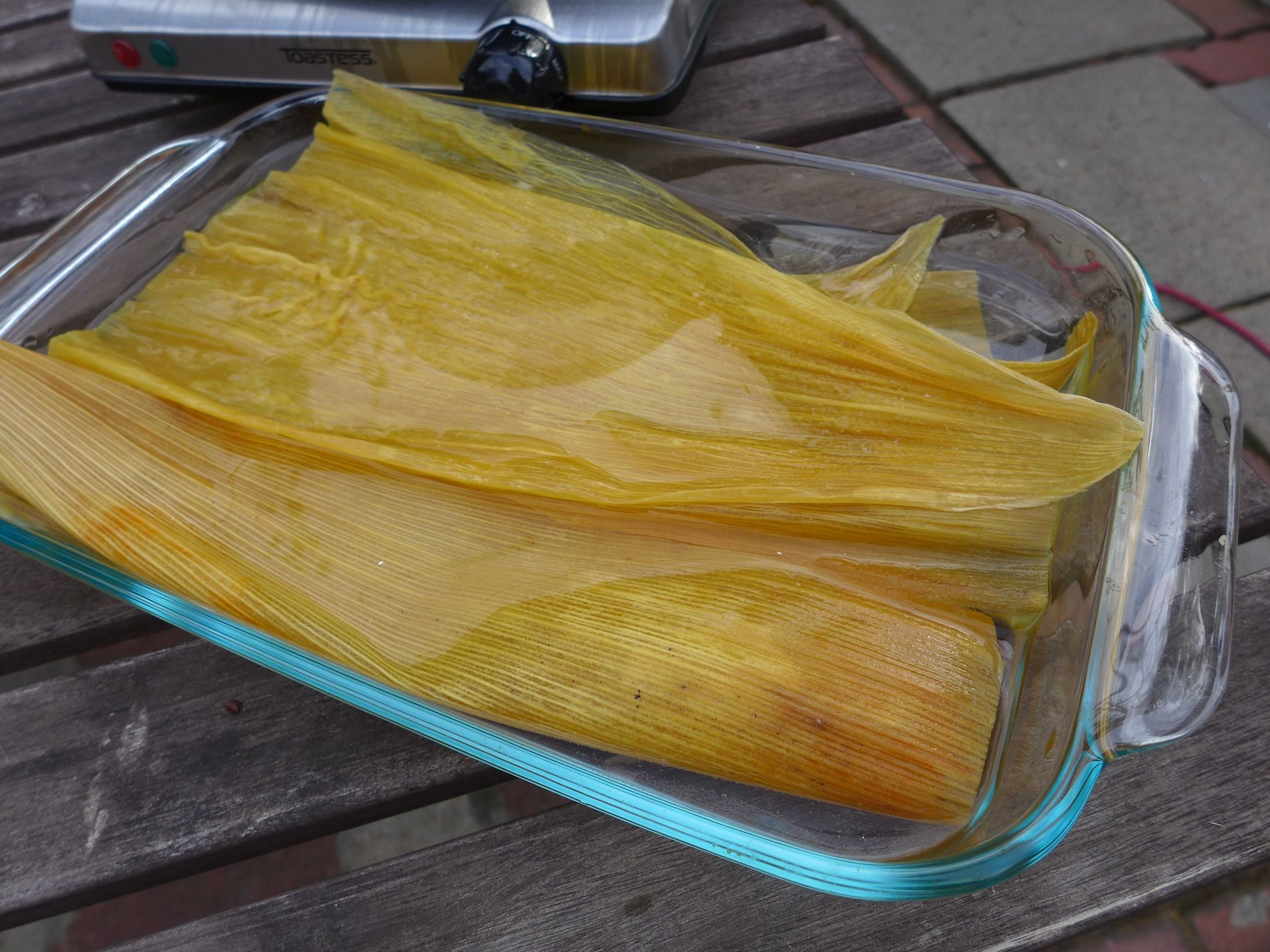 Soak You Corn Husks In Warm Water To Make Them Pliable How To Make Tamales Steamed Dumplings Holiday Treats