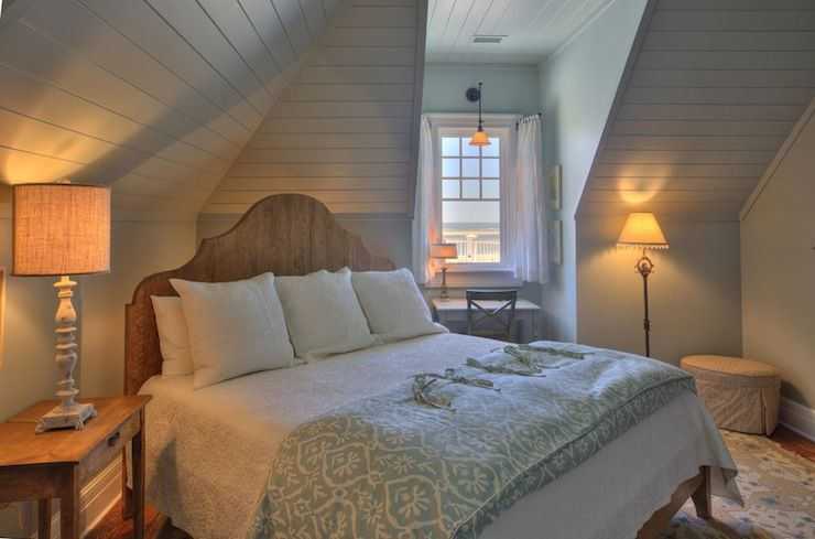 Great Use Of Awkward Space Herlong Amp Associates Cozy Attic Bedroom With Groove Walls Carved
