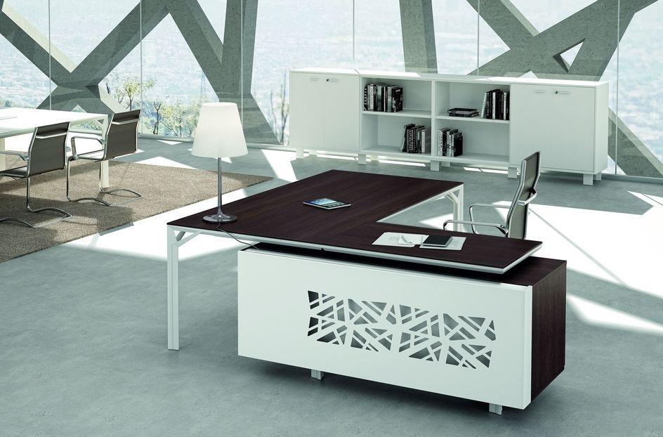 Bureau de direction design haut de gamme wenge et blanc de la