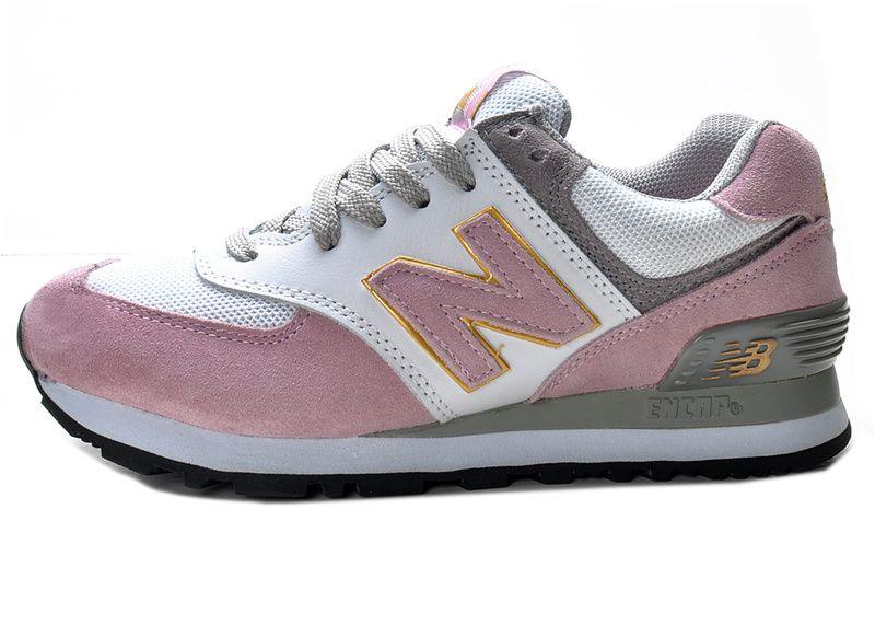 Fashion New Balance 574 Women Pink White Track Shoes