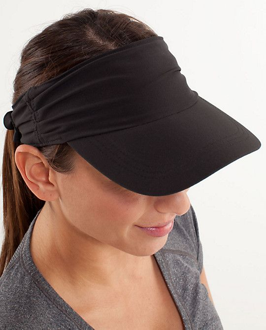 5e51baa9 Run in the Sun Visor - $28.00 - I wonder if this would work with my short  hair?