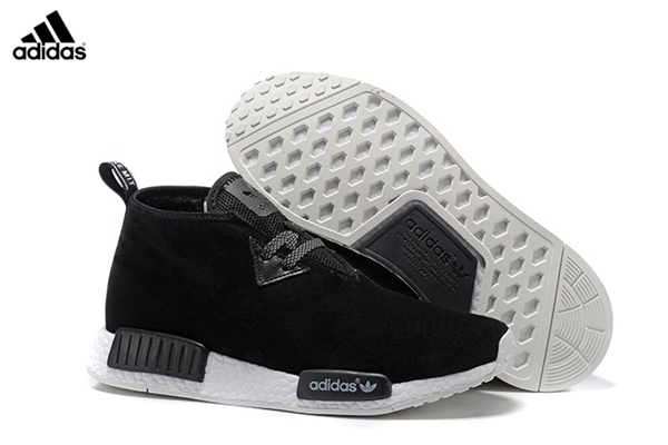 6cefc0e80 Men s Adidas NMD Chukka Suede Running Shoes Core Black Running White S79146
