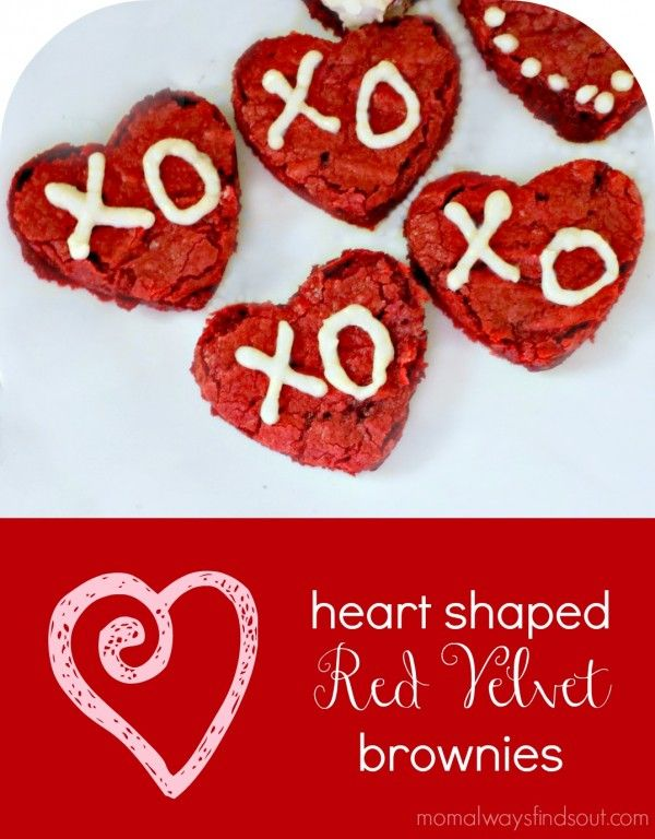 Heart Shaped Red Velvet Brownies Recipe - Mom Always Finds Out