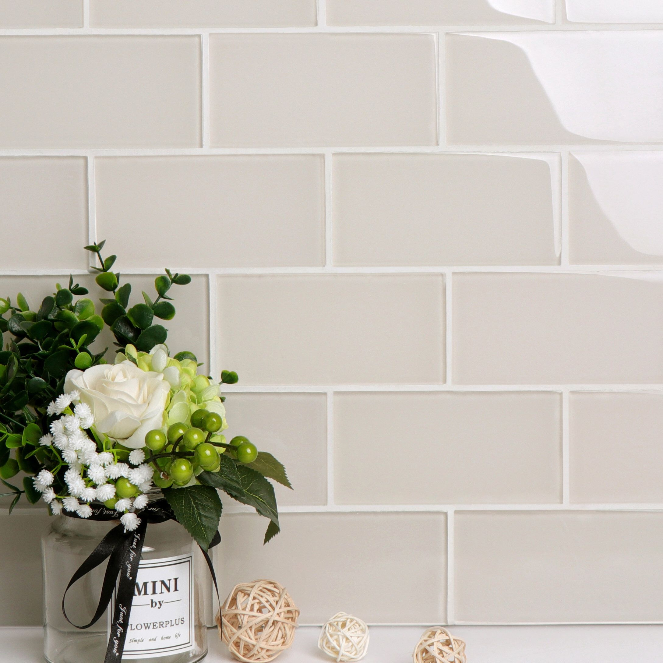 Premium Series 3 X 6 Glass Subway Tile In Ivory Glass Subway Tile Subway Tile Subway Tile Colors