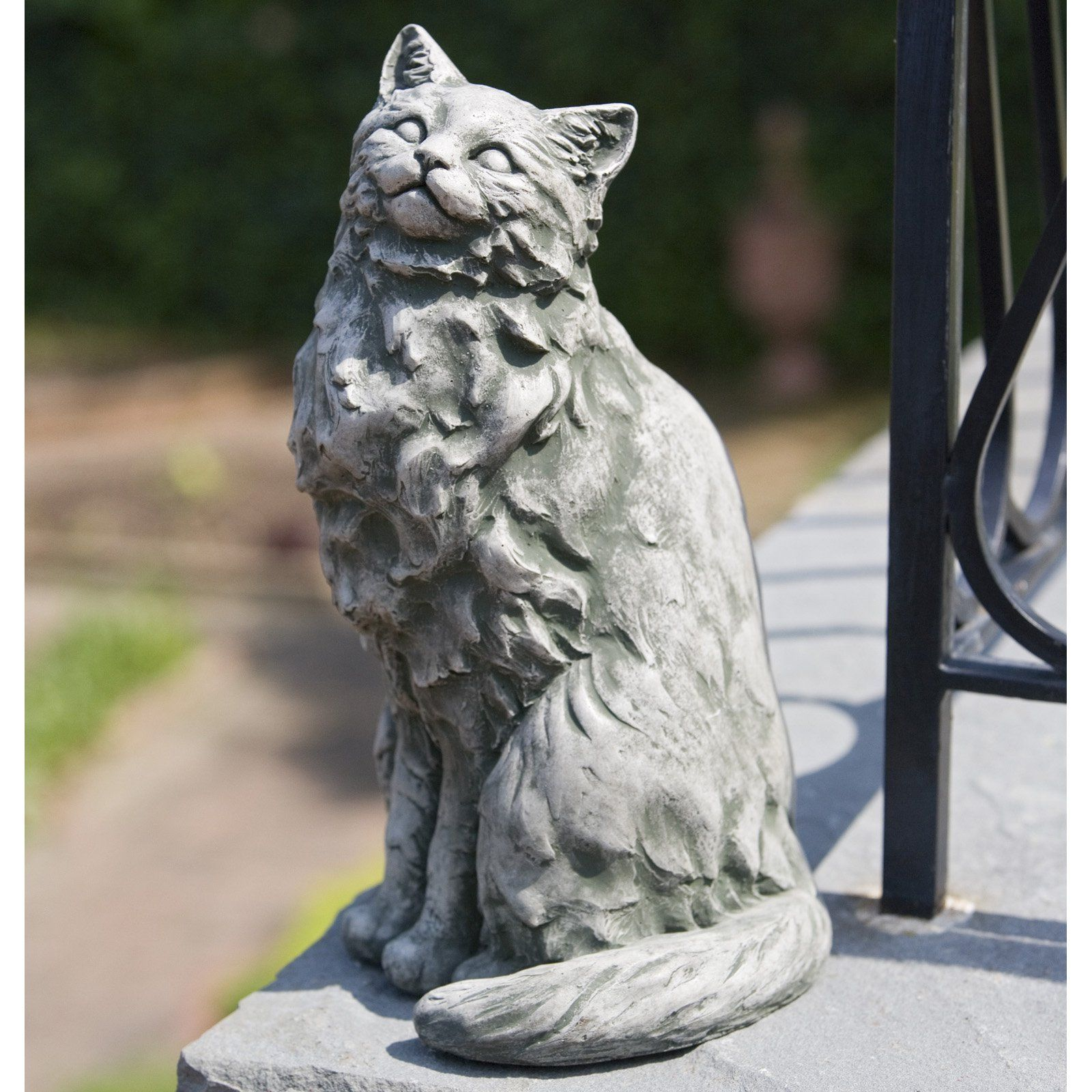 Campania International Tanner The Cat Cast Stone Garden Statue   Garden  Statues At Hayneedle