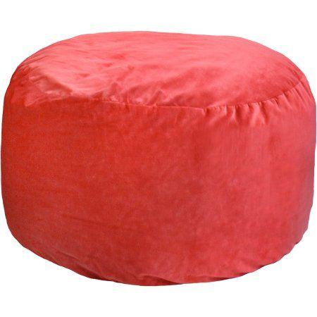 Brilliant 4 Comfort Cloud Foam Bean Bag Red Bean Bag Walmart Evergreenethics Interior Chair Design Evergreenethicsorg