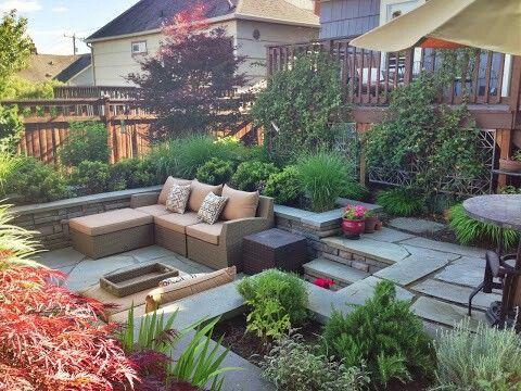 Sunken Patio Garden Landscape Design Back Garden Design English Garden Design