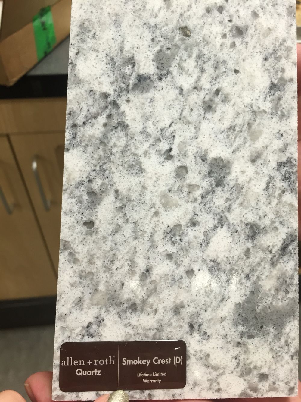 Allen Roth Smoky Crest Quartz Countertop Lowes Countertops Kitchen