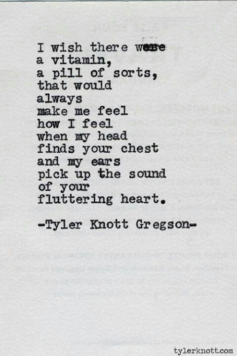 I love hearing your heartbeat