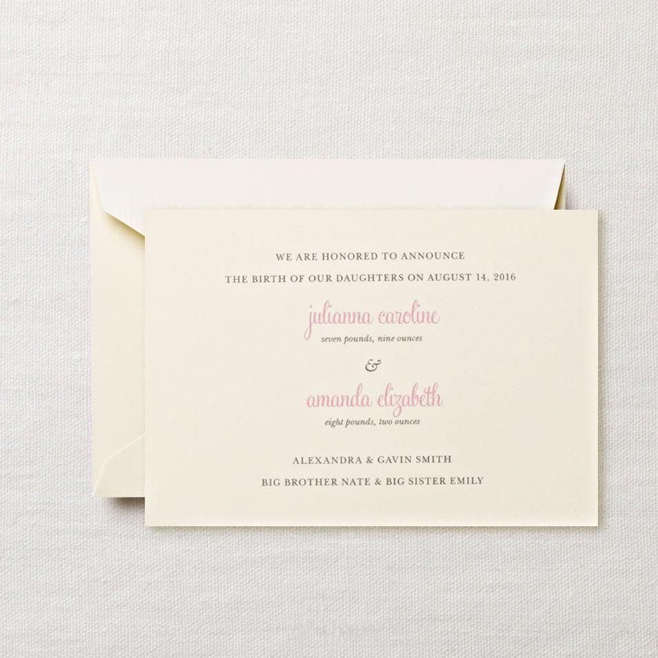 A birth announcement should reflect the style of the proud new – Baby Girl Announcements Pinterest