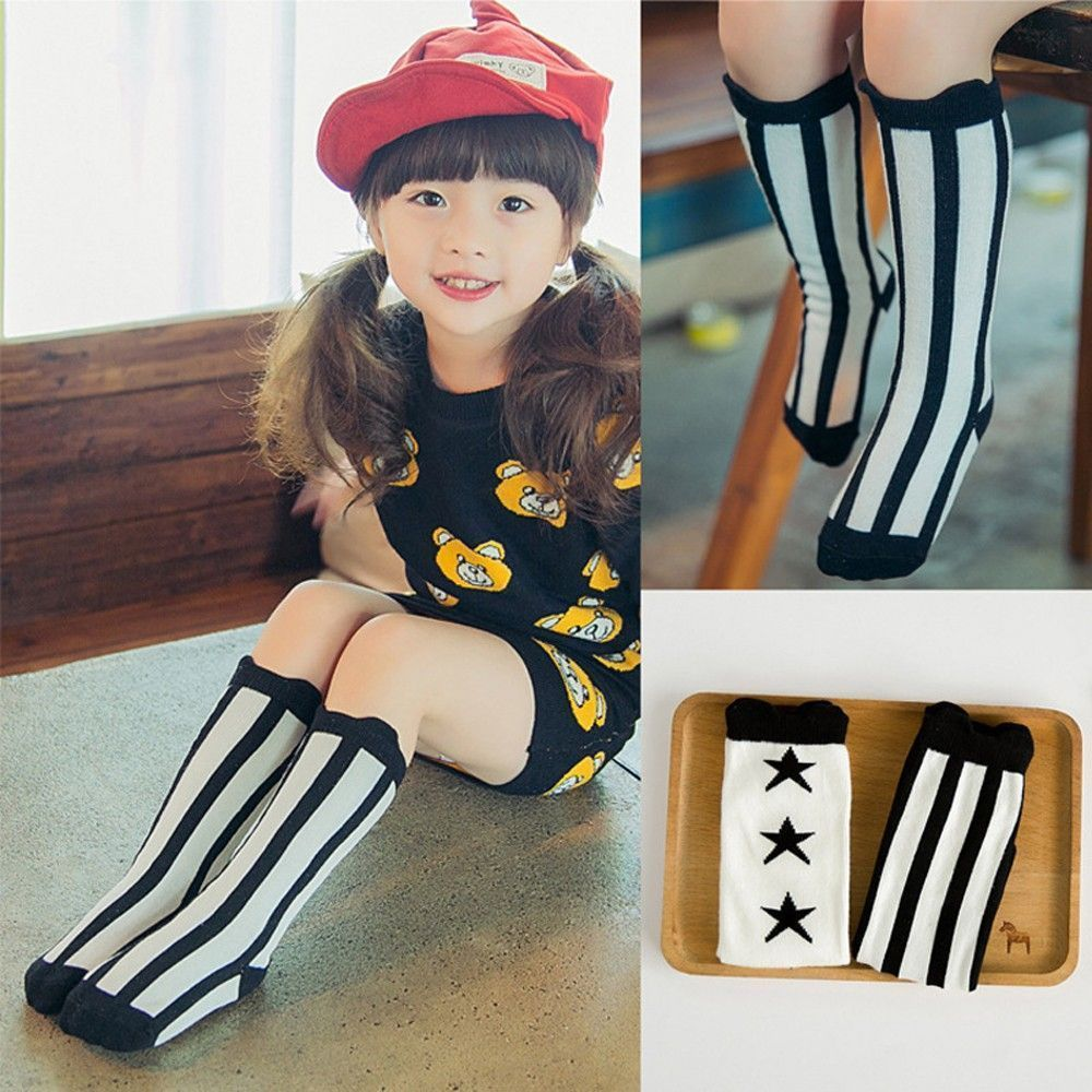 Japanese Style Knee High Socks High Socks Baby Kids Toddlers For Age 1-4 Years