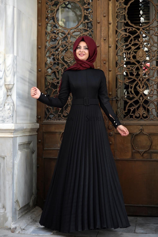 Pinar Sems Tesettur Piliseli Elbise Modelleri Elbise Modelleri Moda Stilleri Elbise