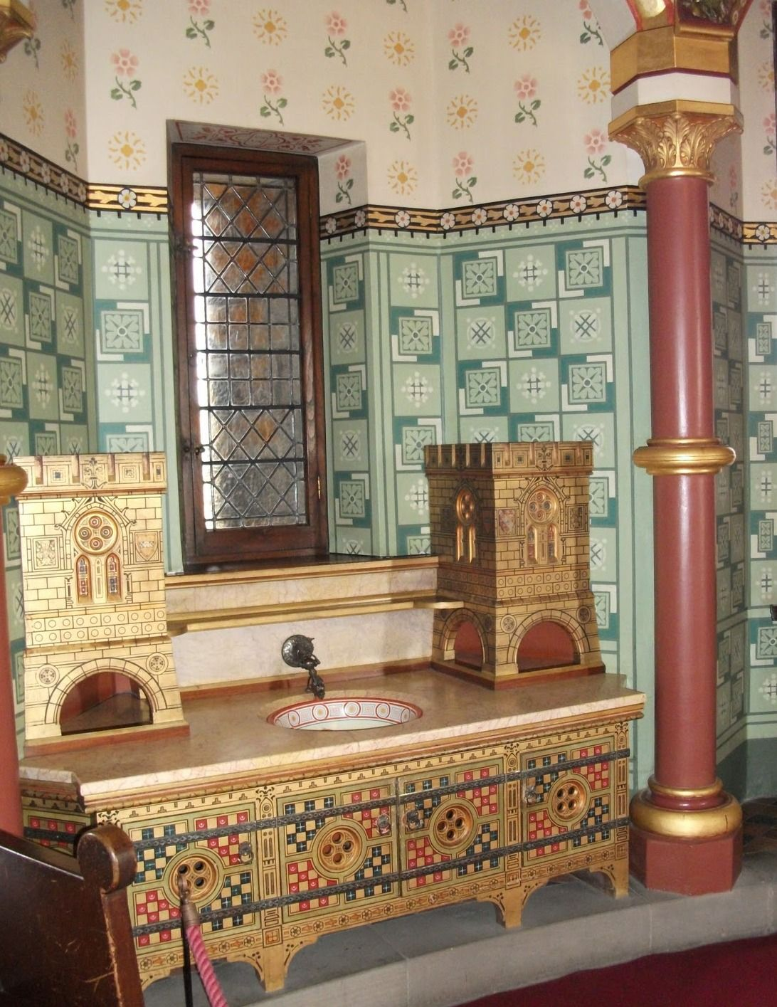 Bedroom Wash Stand at Castell Coch  ( I wish it were mine ) .  Designed by…