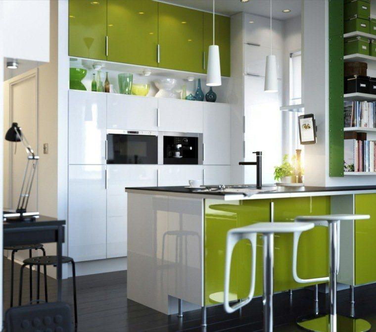 Cuisine Verte Pour Un Intérieur Naturel Et Doux Cuisine Verte - Luminaires cuisine ikea pour idees de deco de cuisine