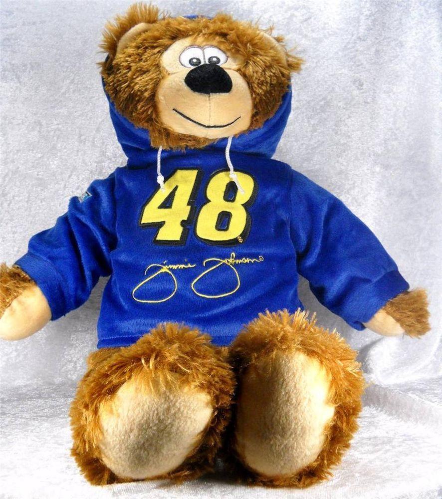 Jimmie Johnson Nascar Bear Plush 48 Blue Hoodie 19 Tall Stuffed