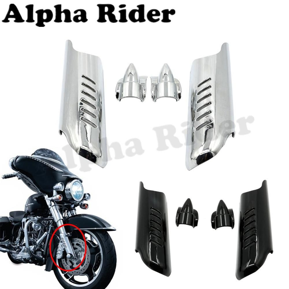 Front Lower Fork Leg Cover Guard Frame Shield Protector For Harley Bennche Fuse Box Touring Street Glide Flhx 2006
