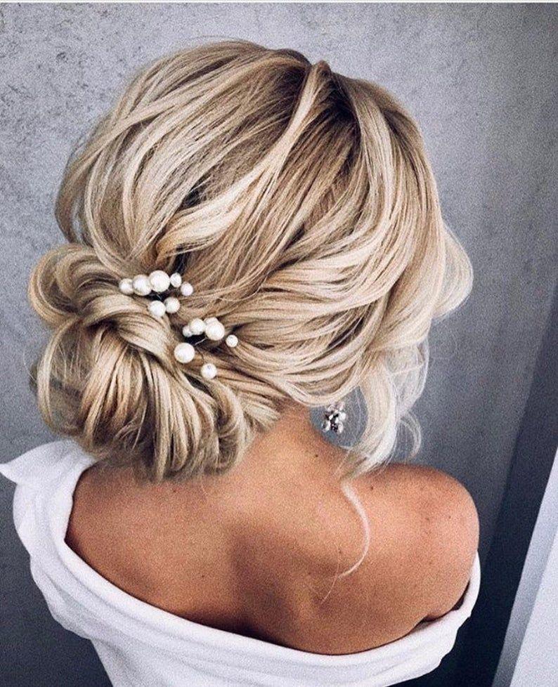 Pearl hair pins wedding pearl hair pins Bridal hai