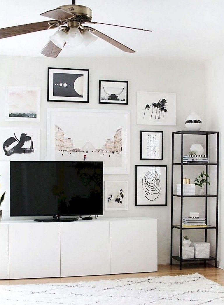 90 Exciting How To Decorate Walls In Scandinavian Style Page 75 Of 94 Living Room Tv Wall Ikea Living Room Living Room Scandinavian