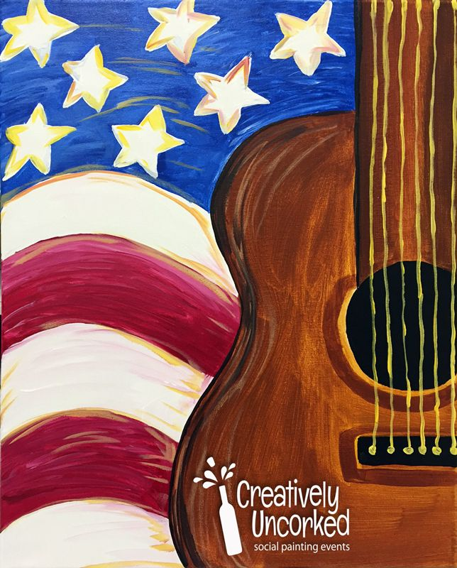 Library Creatively Uncorked Canvas Painting Diy Painting Flag Painting