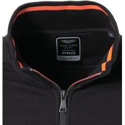 Hackett Sweatshirt-Jacket Herren, Baumwolle, schwarz Hackett