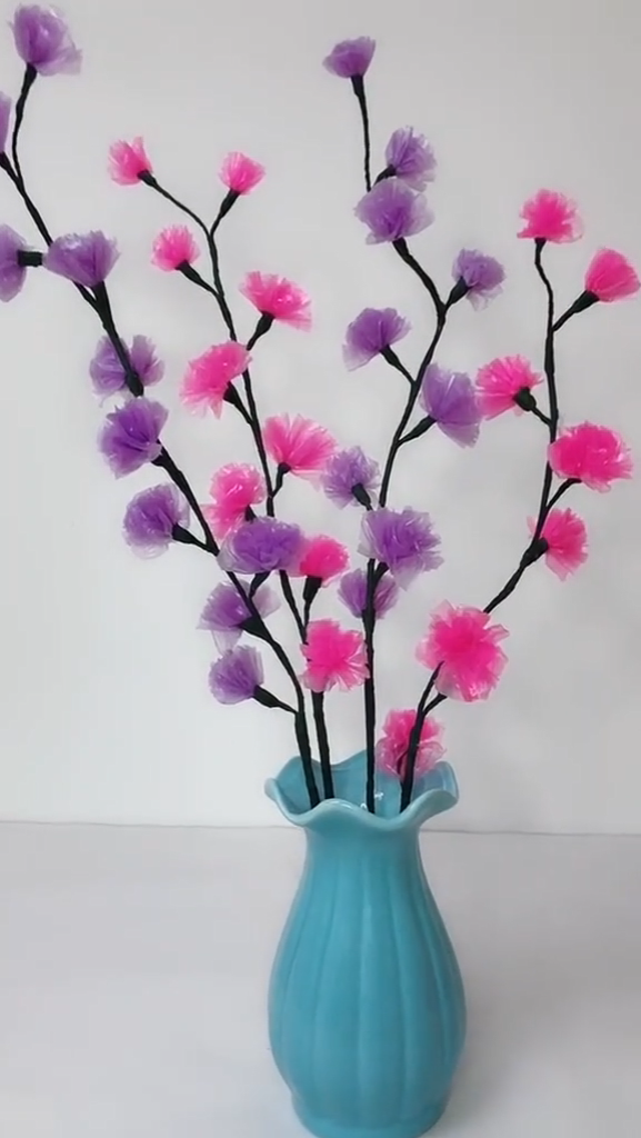 Diy plastic flower making video tutorial