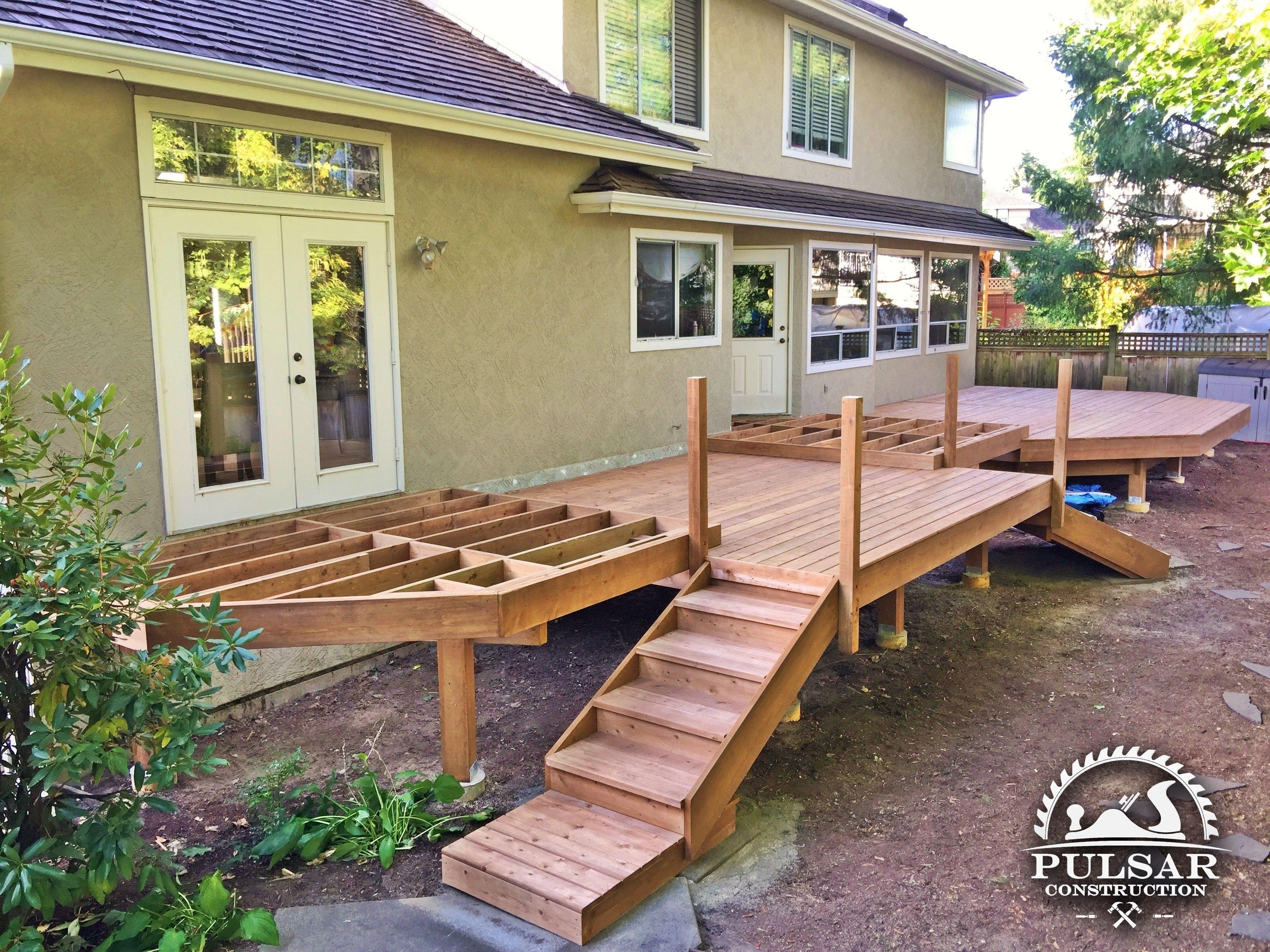 Split-Level Deck Framing | Building a deck, Patio deck ... on Split Level Backyard Ideas id=44881