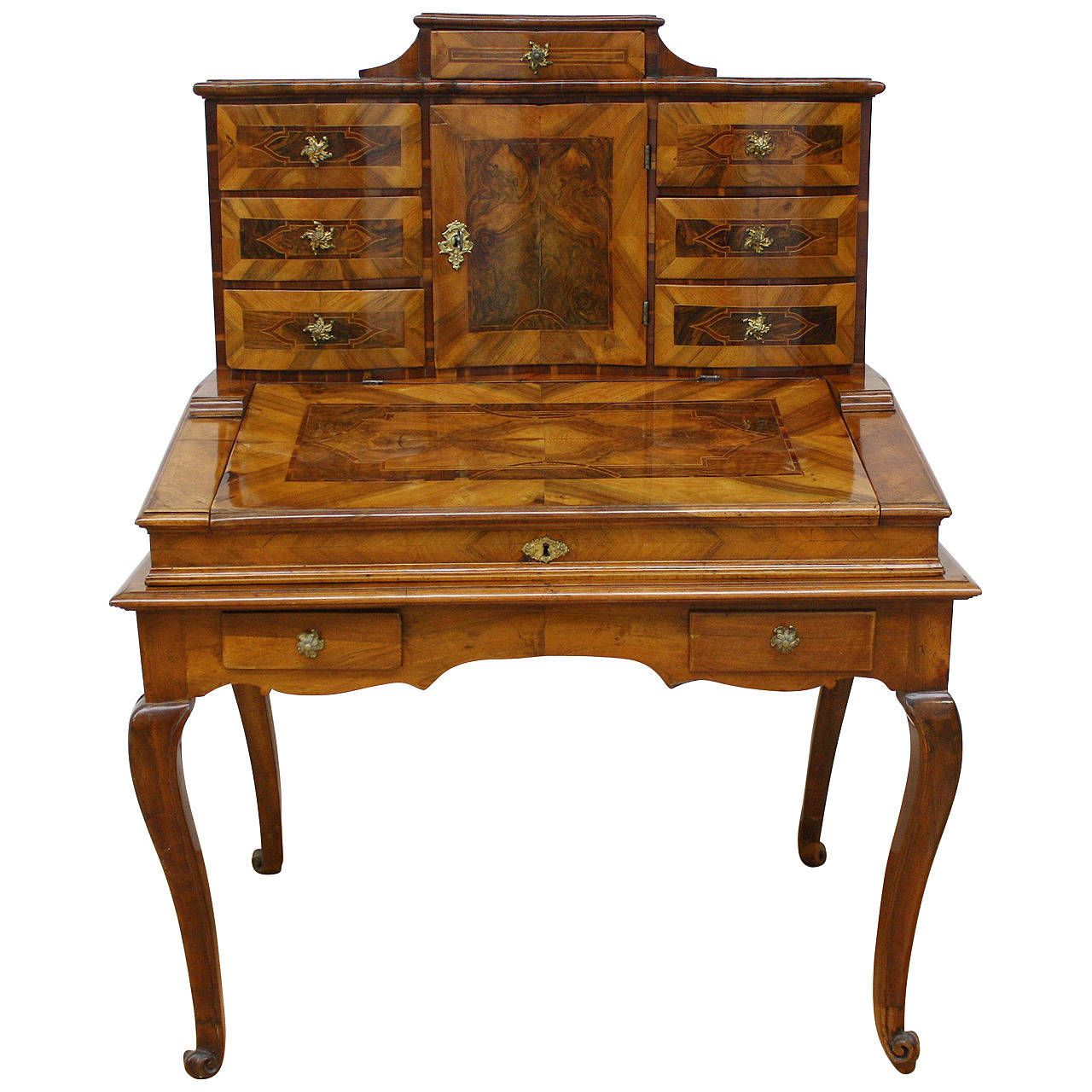 18th century baroque secretaire from a unique collection of antique and modern desks and writing tables at