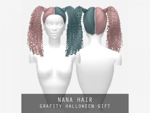 Nana Hair The Sims 4 Download SimsDom RU Sims 4