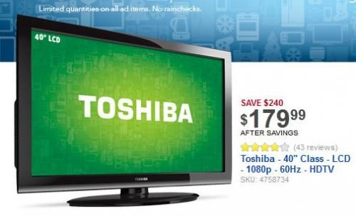 Best Buy Tv 40inch 179 Black Friday Tv Deals Friday Tv Cool Things To Buy