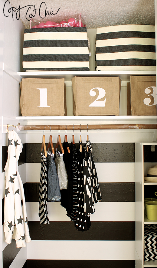 Ranch House Redo | A Shared Nursery Closet   | Copy Cat Chic | Chic For  Cheap