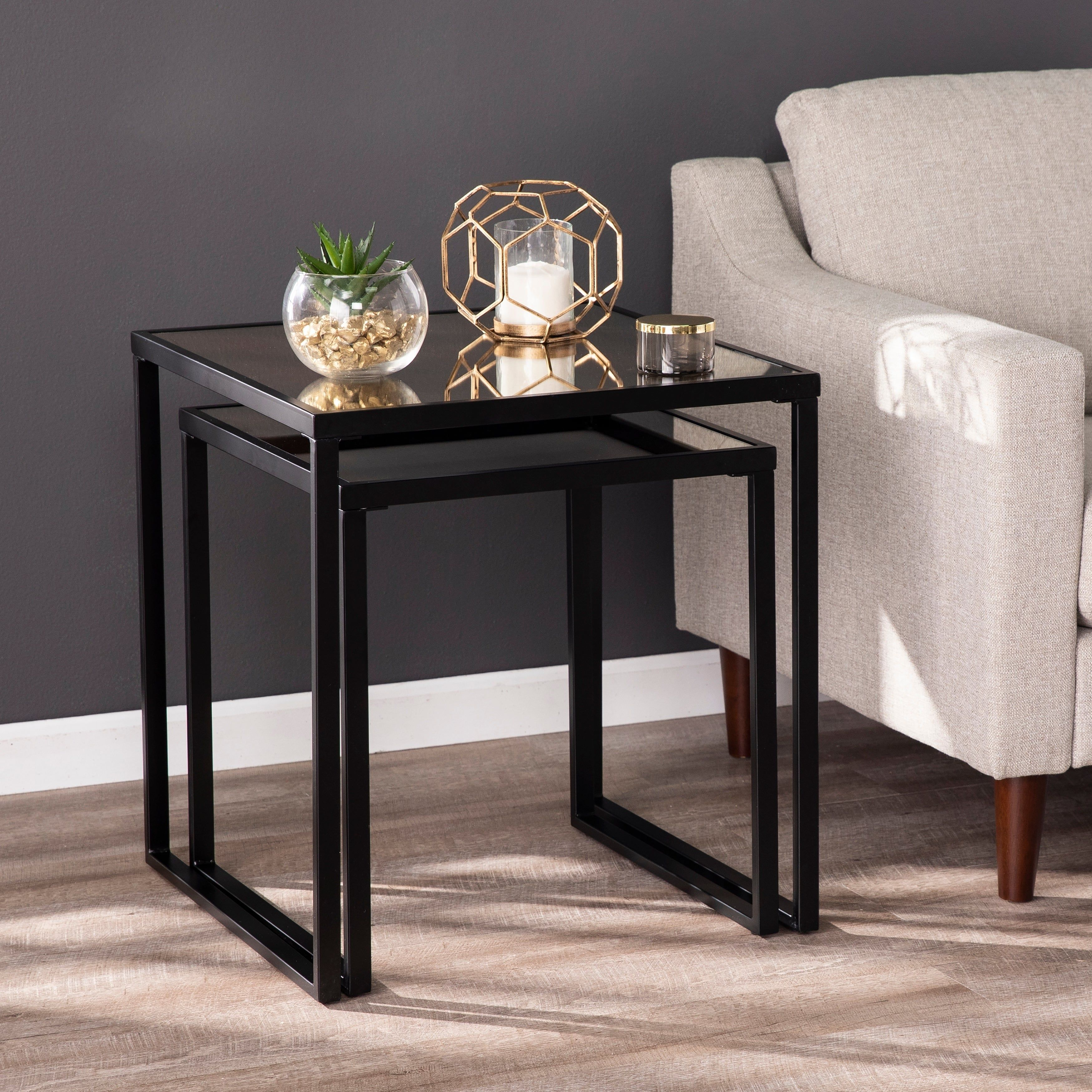 Overstock Com Online Shopping Bedding Furniture Electronics Jewelry Clothing More Mirrored End Table Black Side Table Living Room End Table Sets