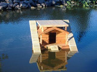 Custom Floating Duck Houses