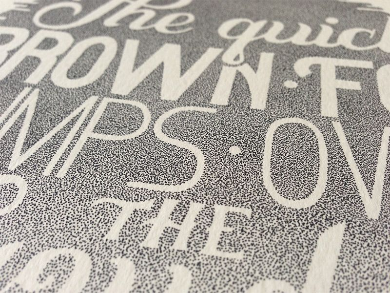 Beautiful Stippled Hand Lettering and Illustrations by Xavier Casalta