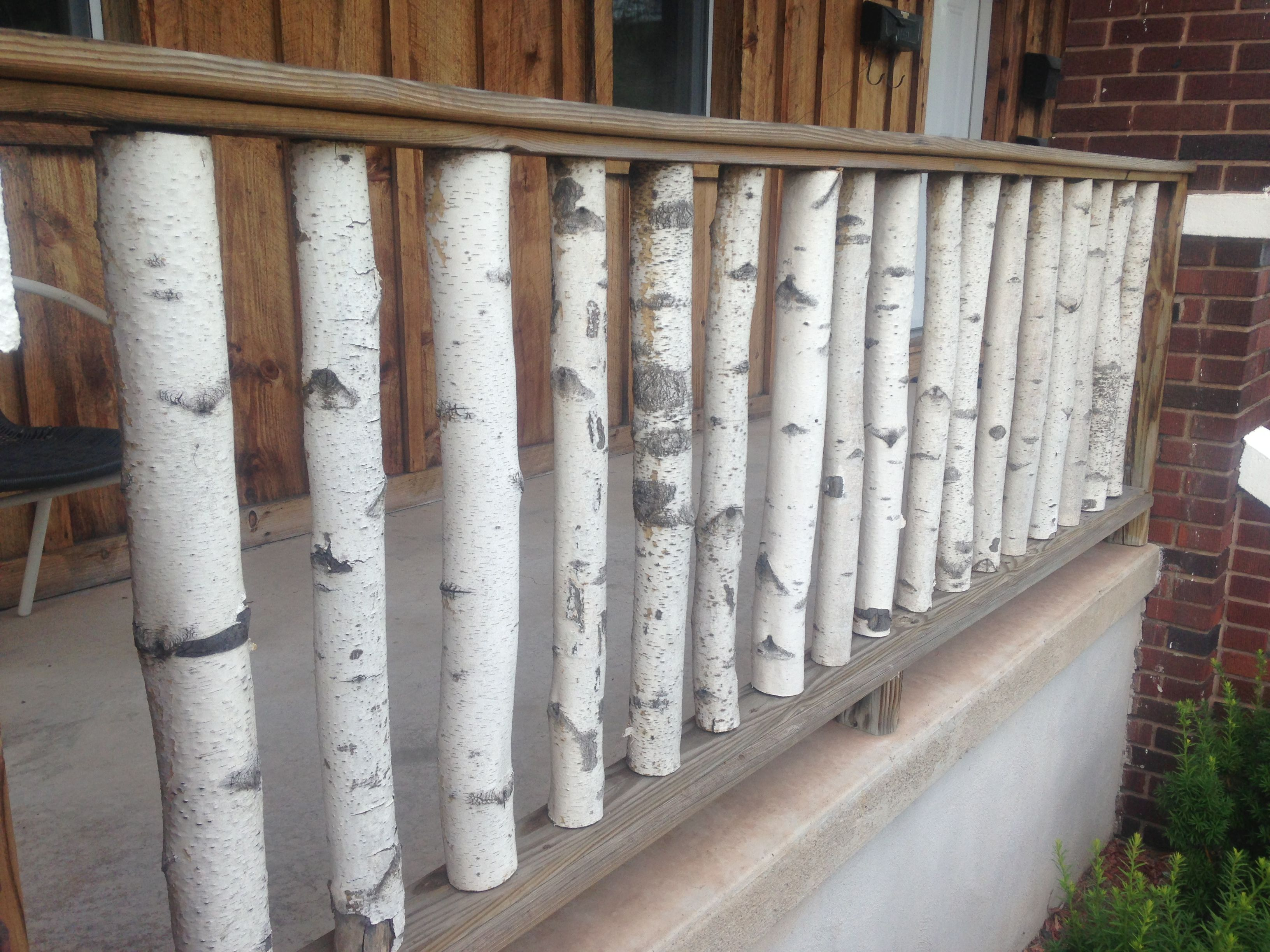 Birch Branch Railing love for a deck, patio, or porch
