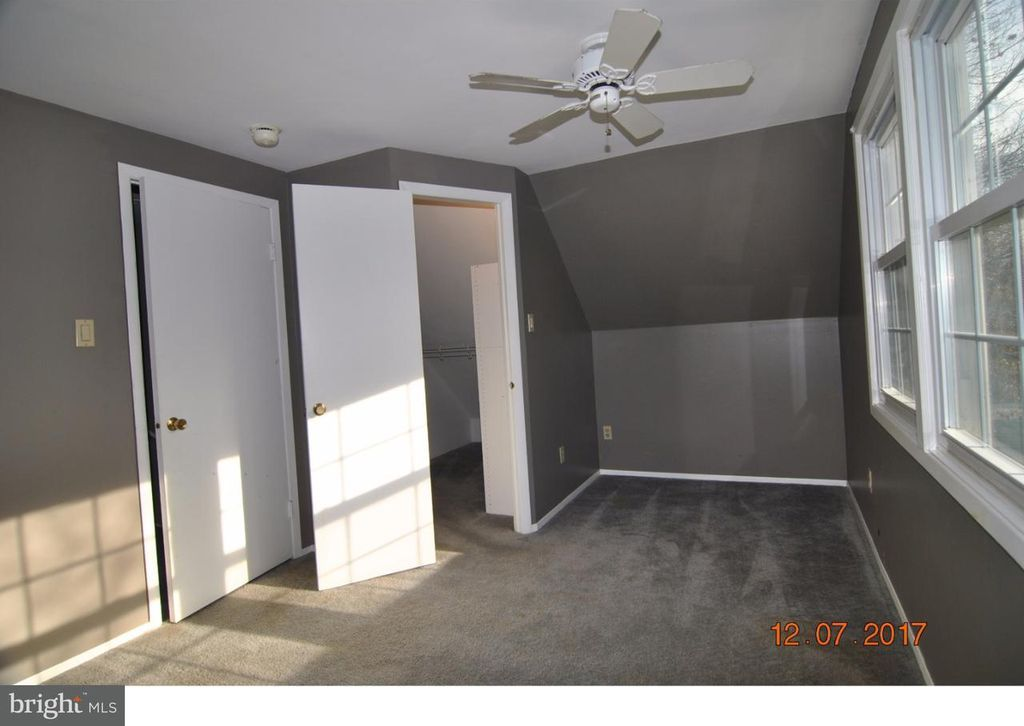 Small Upstairs Bedroom With Walk In Closet Converted To An Office