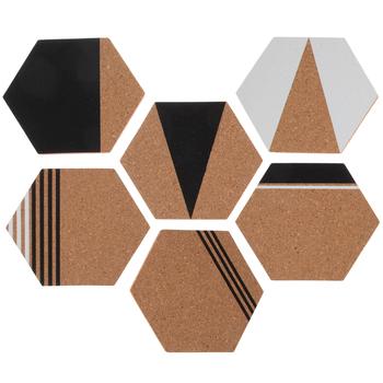 Black White Hexagon Corkboard Adhesive Wall Art Hobby Lobby 1878966 In 2020 Adhesive Wall Art Vinyl Wall Art Mirror Wall Decor