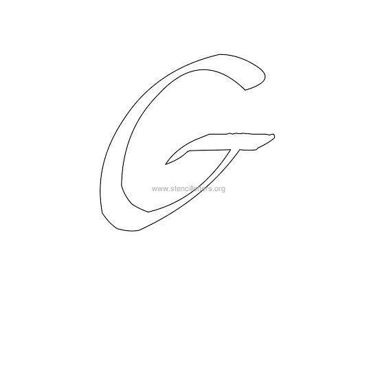 Uppercase calligraphy wall stencil letter g letter templates uppercase calligraphy wall stencil letter g spiritdancerdesigns Images