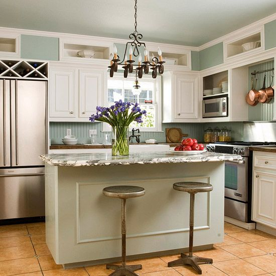 Organizar una cocina peque a cocina peque a alacena - Isla cocina pequena ...