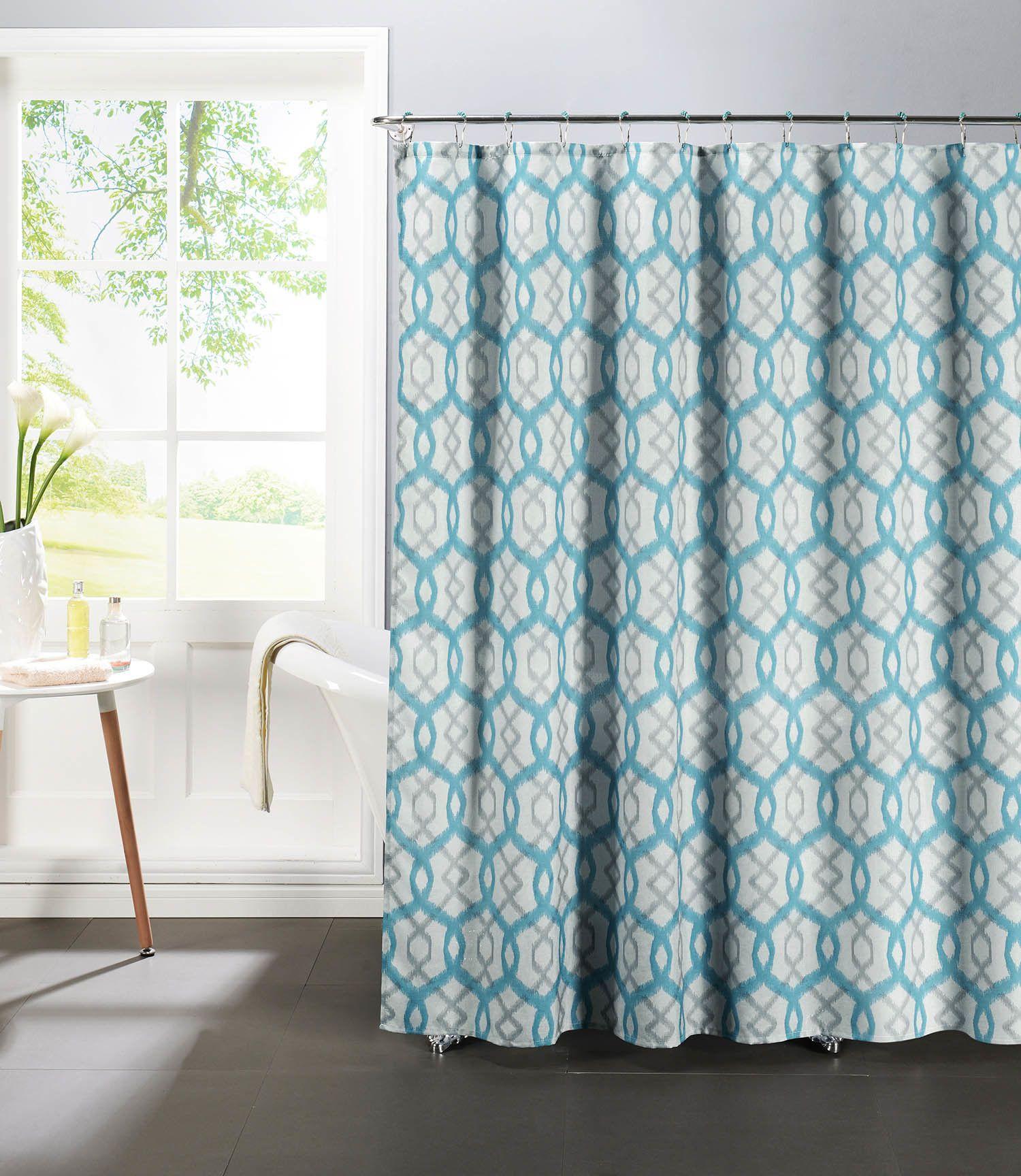 Ba bathroom curtains at sears - Faux 13 Piece Linen Textured Shower Curtain Set