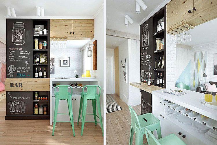 Cocinas peque as con barra ideas remodelacion cocinas for Cocinas muy pequenas con desayunador