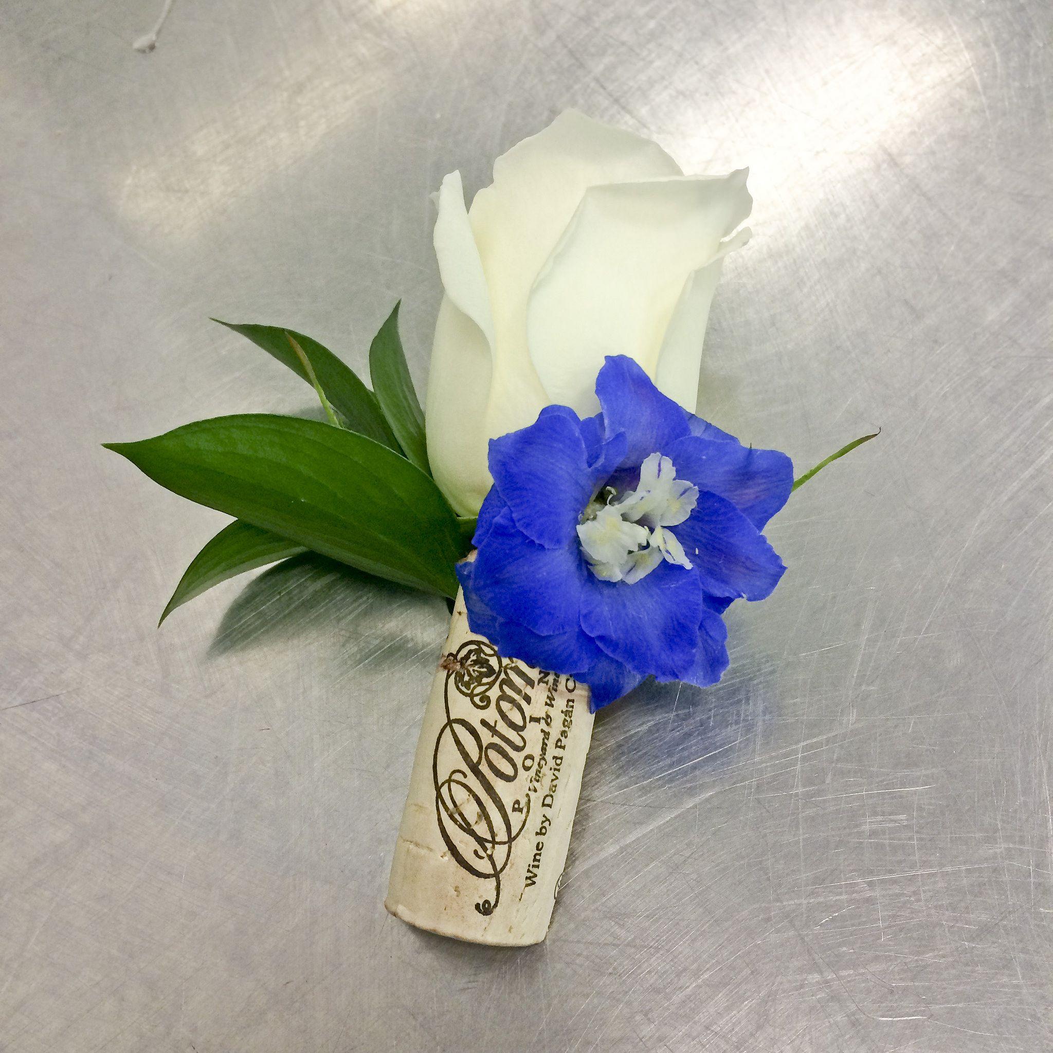 Cork Boutonniere: Cork Boutonniere, Wedding Flowers