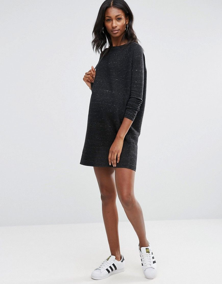 Image 4 of asos jumper dress in knit with ripple stitch sleeves image 4 of asos jumper dress in knit with ripple stitch sleeves maternity sweater ombrellifo Image collections