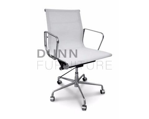 Management Mesh Office Chair Eames Replica White   Dunn Furniture