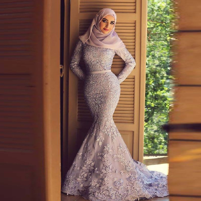 Find More Prom Dresses Information about Muslim Mermaid Prom Dresses ...