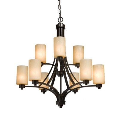 Artcraft Lighting AC1309 Parkdale 9 Light Chandelier  Parkdale 2-Tier 9-Light ChandelierParkdale chandelier features a clean and simple design. ,