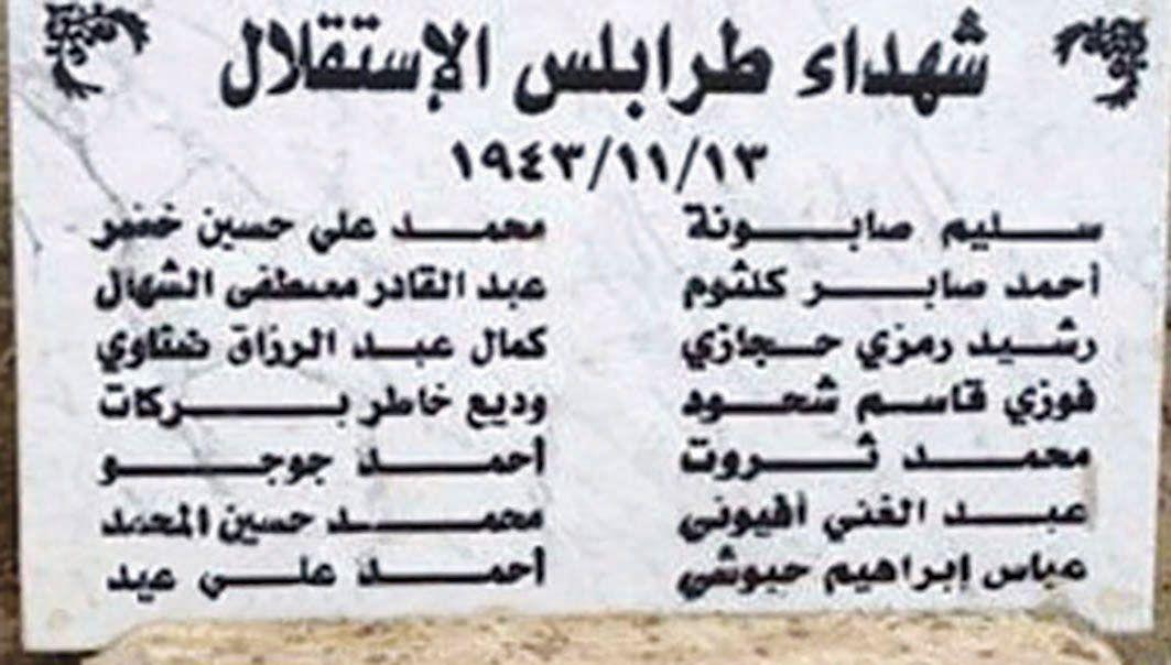 هل نسي الرئيس شهداء طرابلس والمعتقلين والمعذبين في سجون الإحتلال الفرنسي Math Math Equations